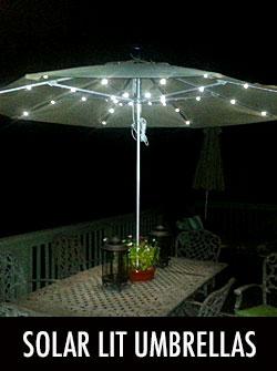 Solar Lit Umbrellas